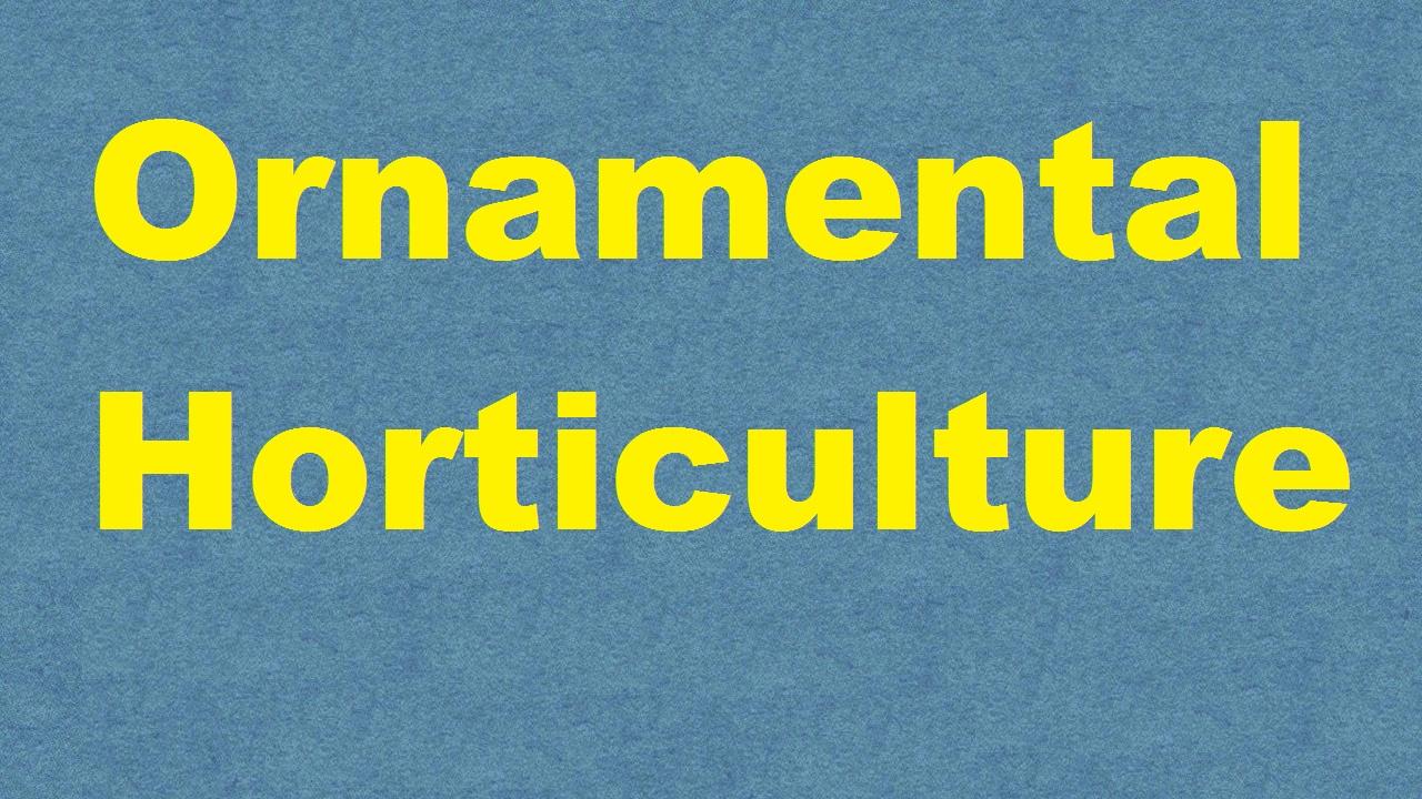 Ornamental Horticulture ICAR E course Free PDF Book Download e krishi shiksha
