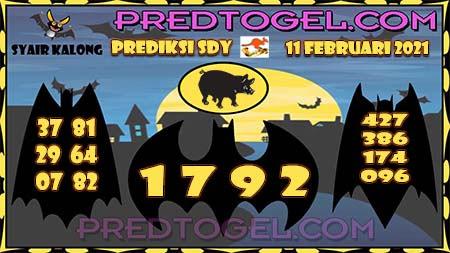 Pred Kalong Sdy Kamis 11-Feb-2021