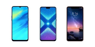Best Smartphone Under 15k April (2019),image of three mobile phones,
