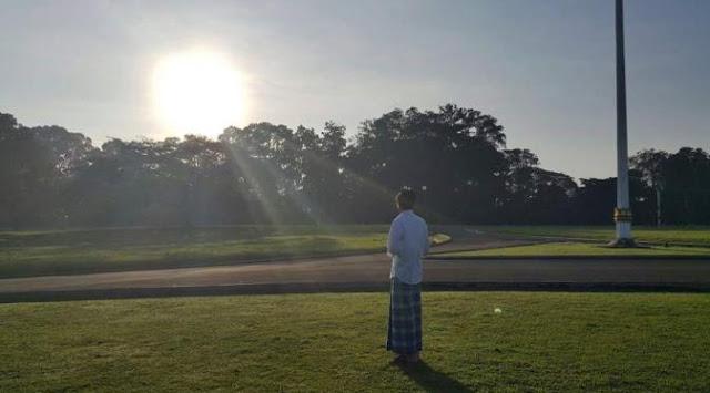 Jokowi Saksikan Gerhana Matahari