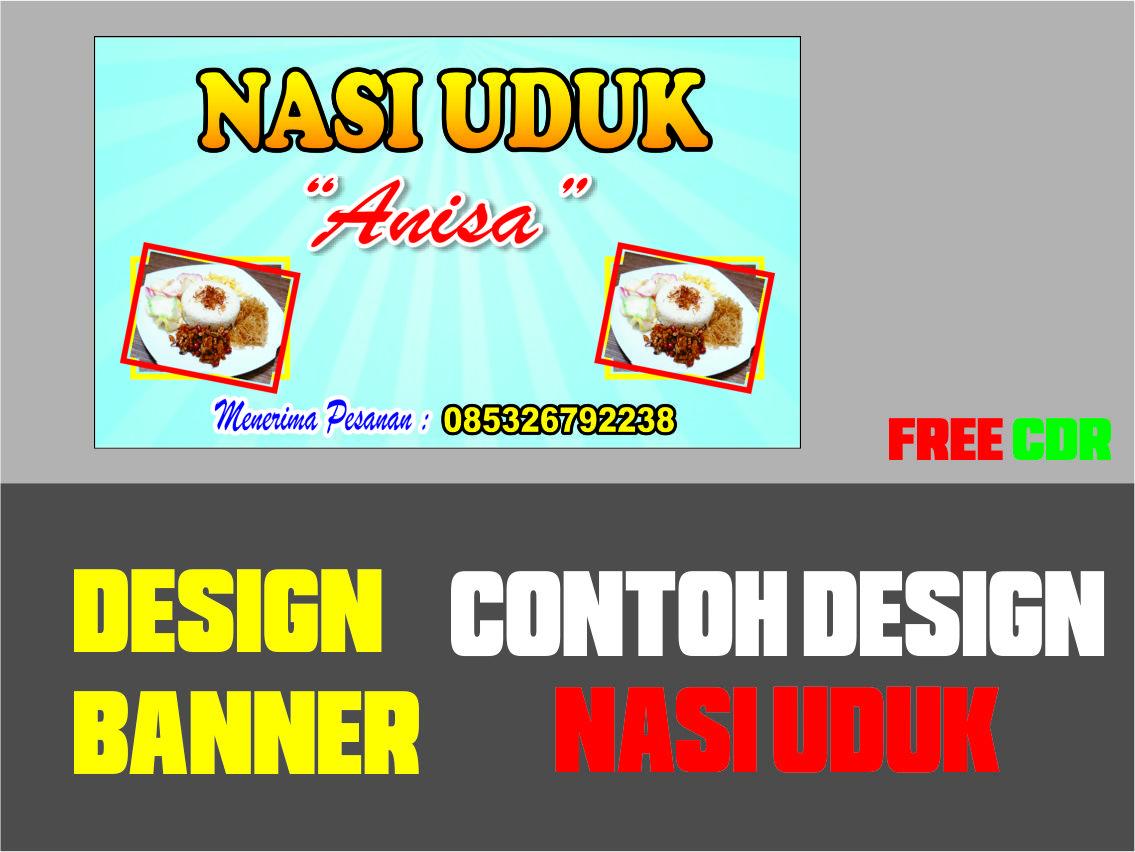 Download Contoh Desain Banner Nasi Uduk Format CDR, SVG ...