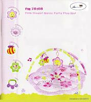 Junior L'abeille PM2010B Pink Flower Music Party PlayMat