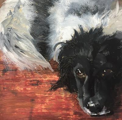 Stabijhoun dog painting by Philine van der Vegte