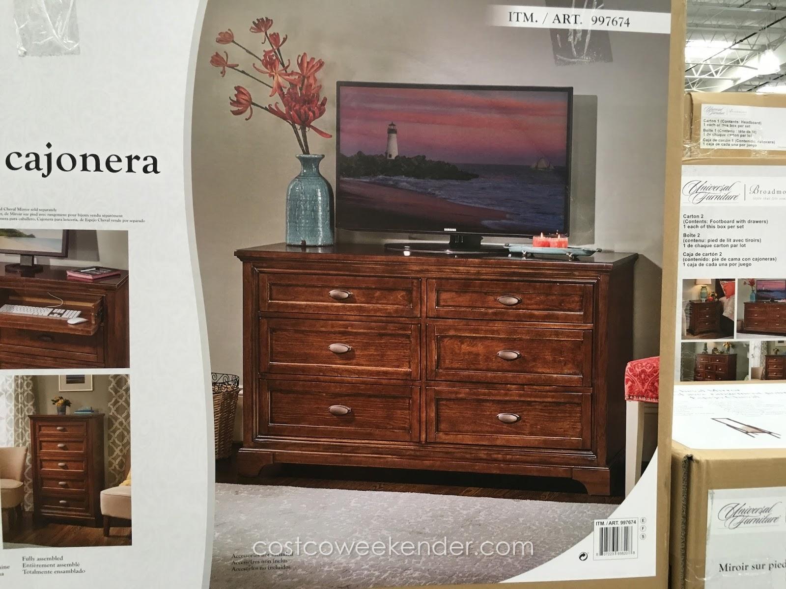 Tele Au Pied Du Lit universal furniture broadmoore media dresser | costco weekender