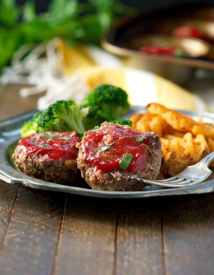 Healthy Mini Meatloaf #dinner #meatloaf #healthyrecipes