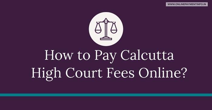 pay calcutta high court fees online