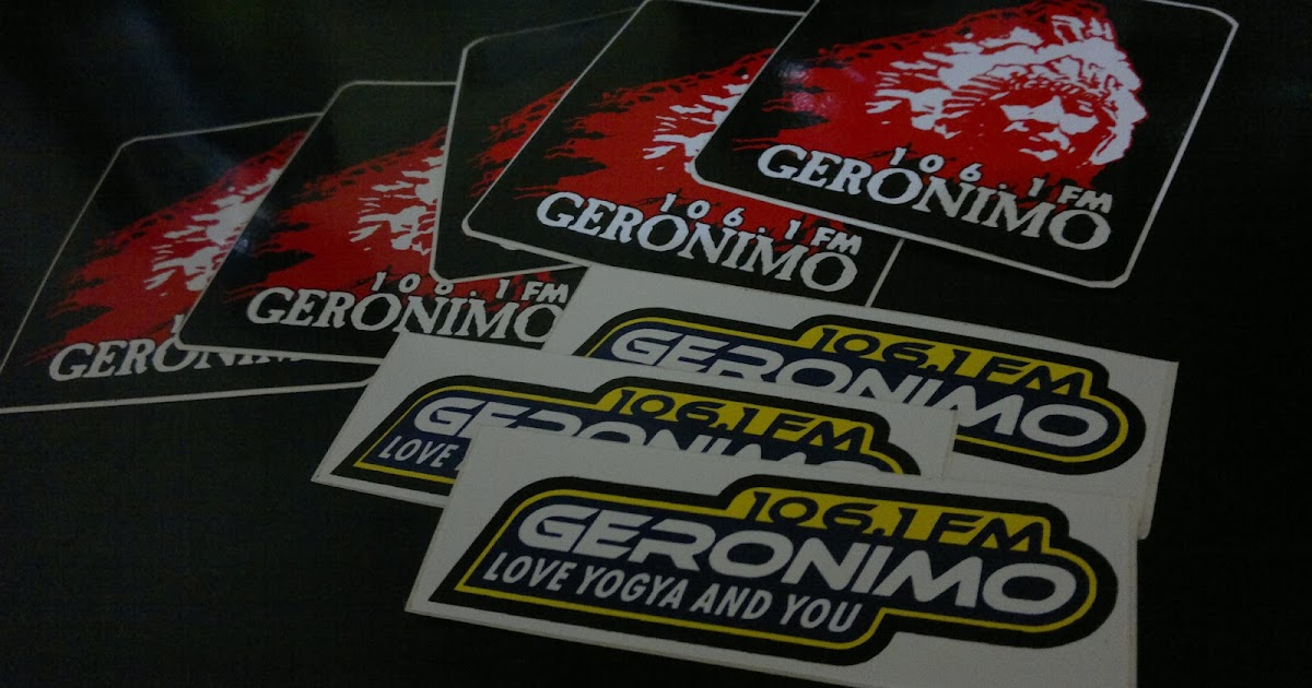 Radio branding materials sticker geronimo 106 1 fm yogyakarta 2009