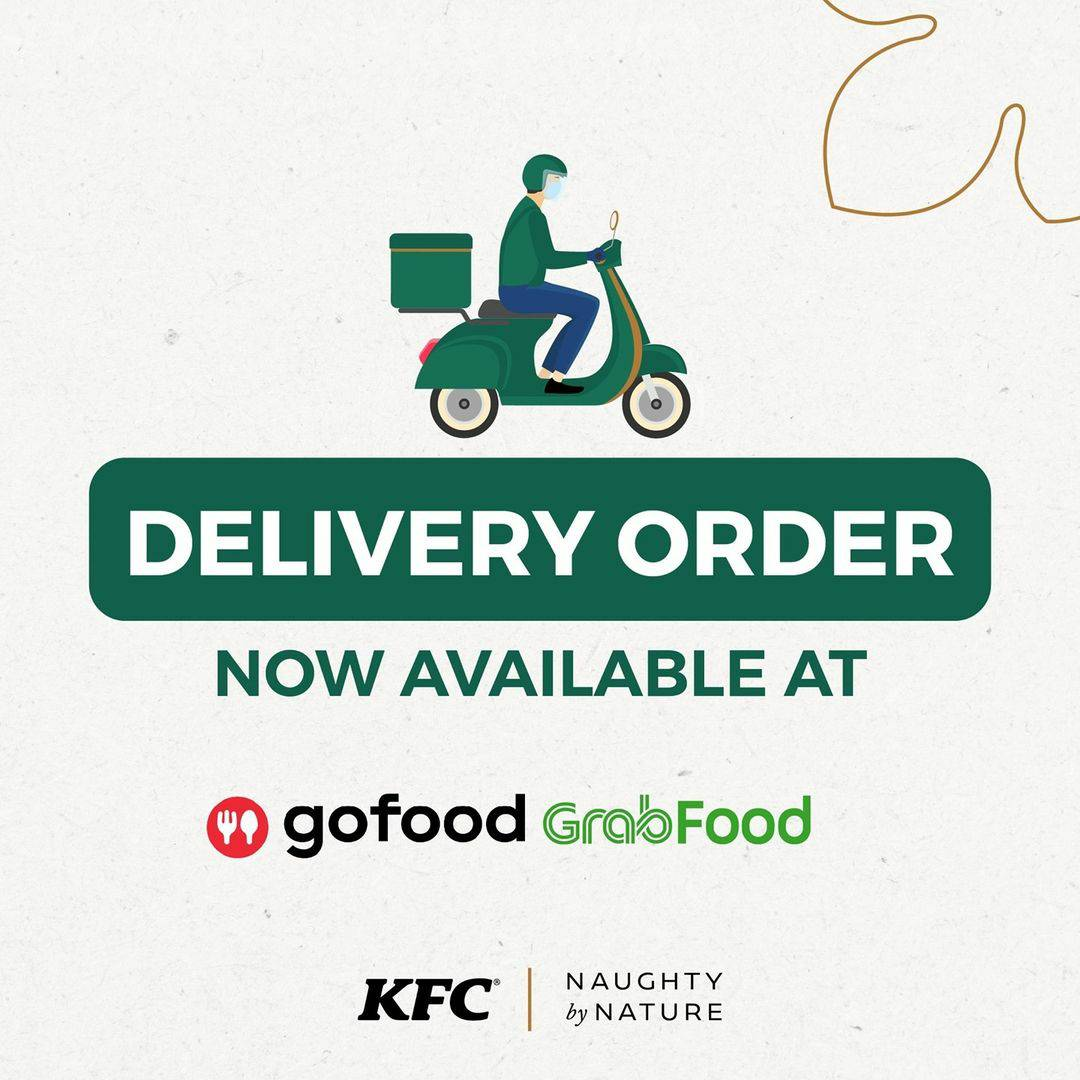 KFC Naughty By Nature Deliver Order Now AvaIlable at GOFOOD & GRABFOOD