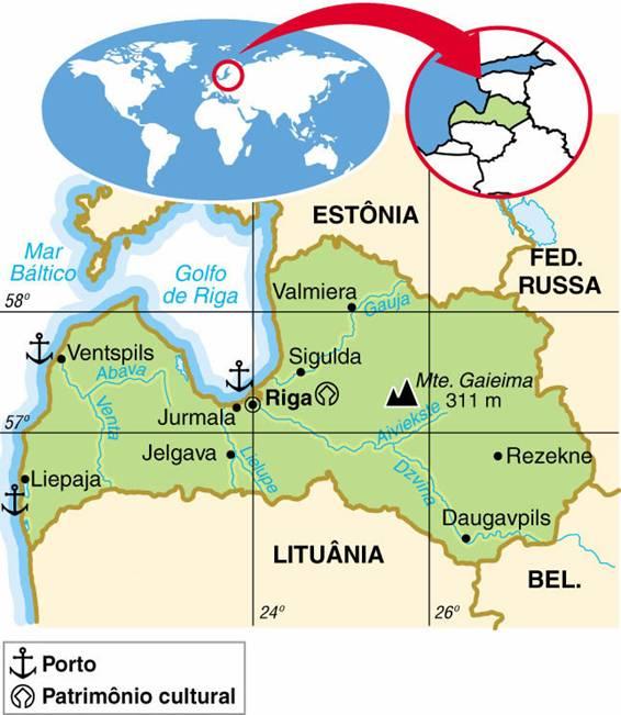 LETÔNIA, ASPECTOS GEOGRÁFICOS E SOCIOECONÔMICOS DA LETÔNIA