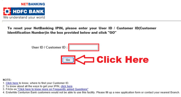 how to reset hdfc netbanking login password