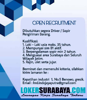 Lowongan Kerja Driver (Sopir) Surabaya Terbaru di Kepatihan Industri Terbaru Oktober 2019