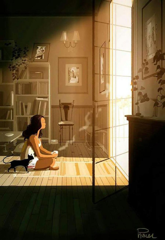 reflexão amizade ilustração Pascal Campion laços