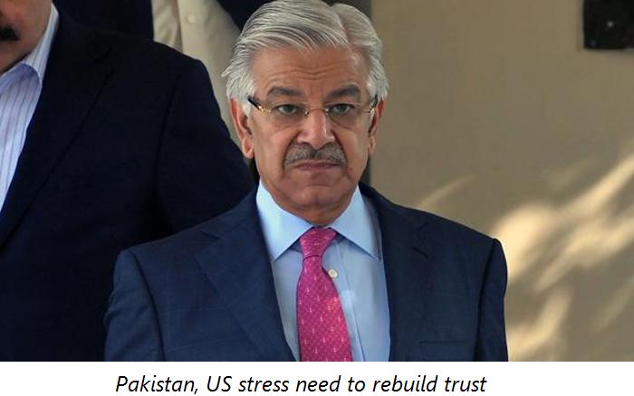 Pakistan, US stress need to rebuild trust