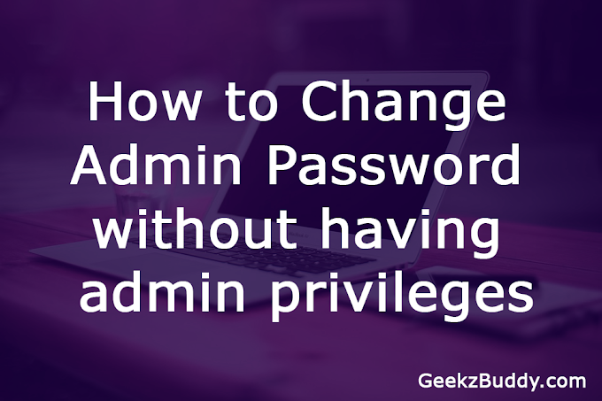 How to Change Admin Password without having Admin Privileges
