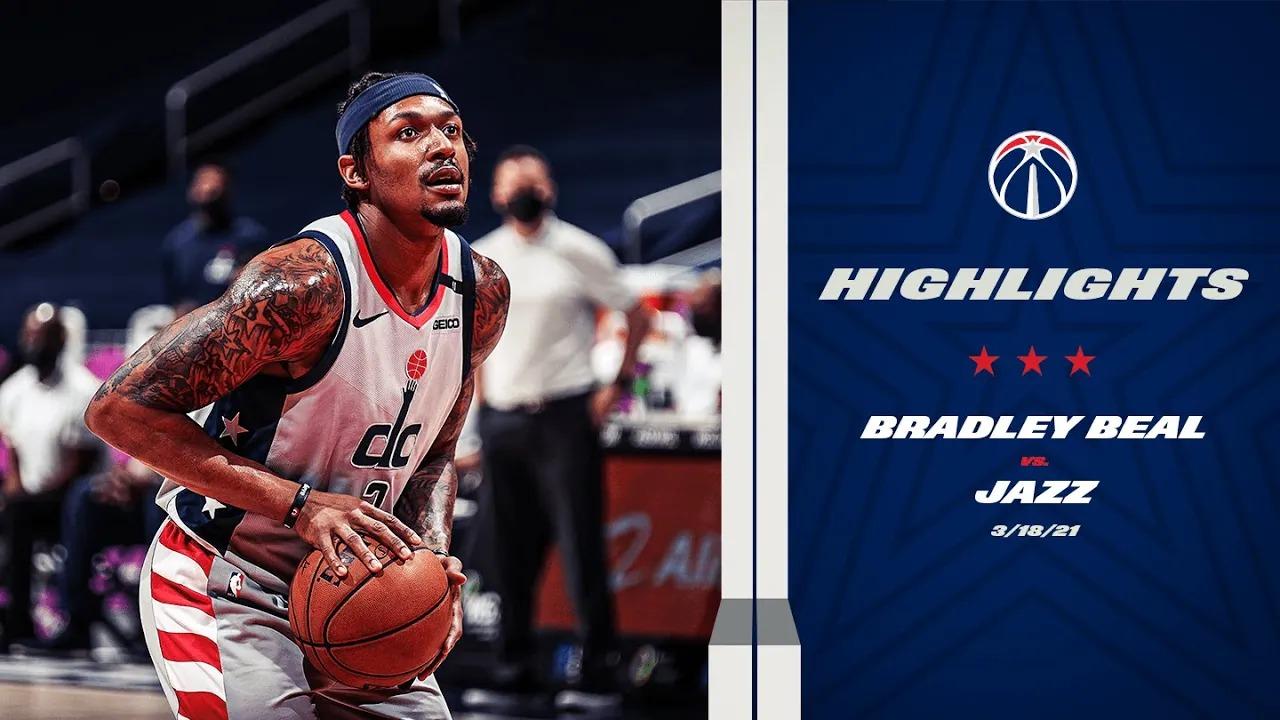 Bradley Beal 43pts 5ast vs UTA   March 18, 2021   2020-21 NBA Season