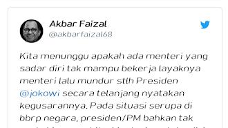 Pak Jokowi Sudah Emosi, Semoga Menteri Berkinerja Buruk Segera Tahu Diri