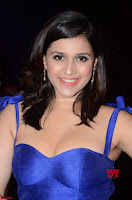 Mannara Chopra in Deep Neck Blue Gown at Zee Telugu Apsara Awards ~  Exclusive 021.jpg