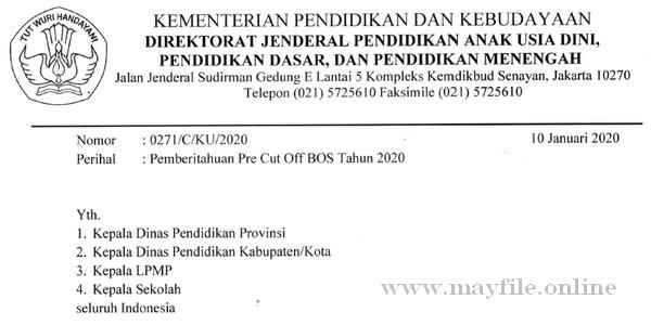 Berita Terbaru Penyaluran Dana BOS Tahun 2020 Dilakukan Kementerian Keuangan
