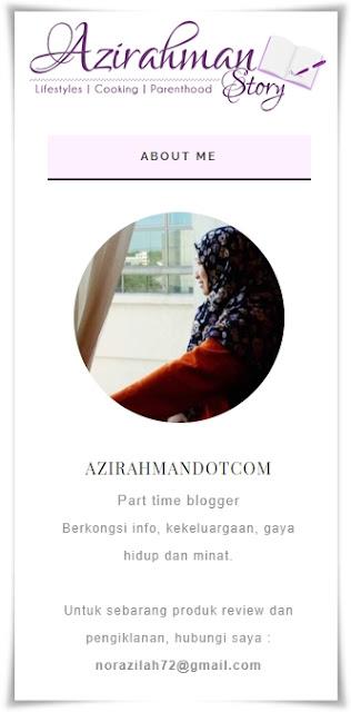 Sahabat blogger pilihan Starlavenderluna : Azi Rahman