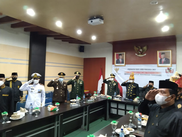 BPIP Gelar Upacara Hari Kesaktian Pancasila Secara Virtual, Forkopimda Aceh Barat Ikut Serta