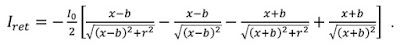 A mathematical expression for the return current through the Amperian loop.