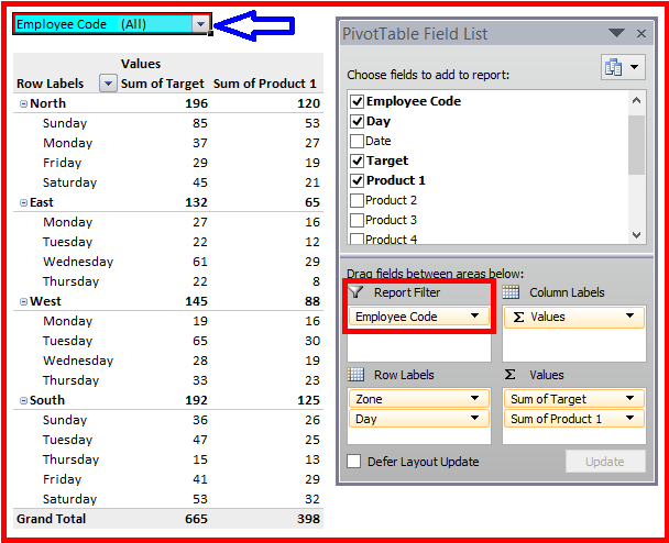 how to use pivot table function in excel 2013
