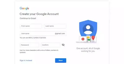 create an google account