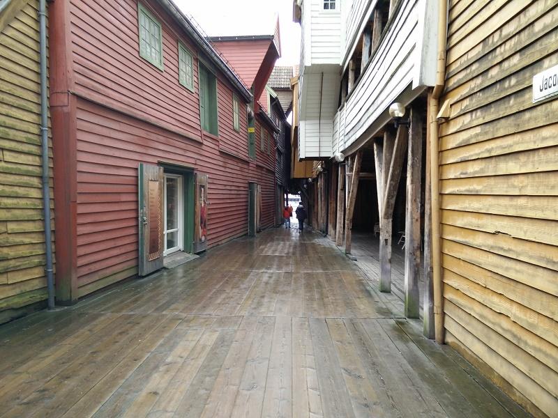 Bryggen alleyway