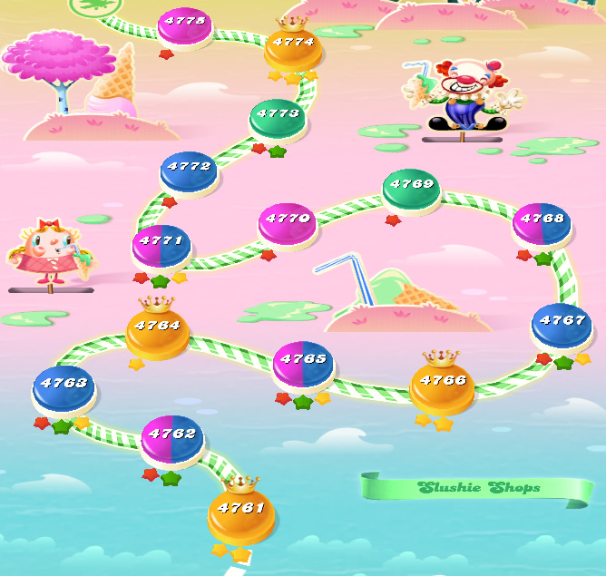 Candy Crush Saga level 4761-4775