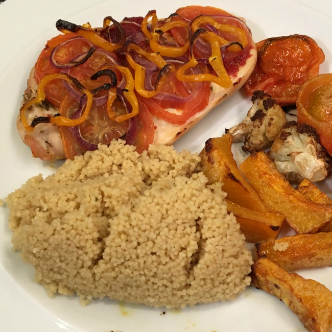 Slimming-World-Pizza-Chicken-with-couscous-and-roasted-vegetables