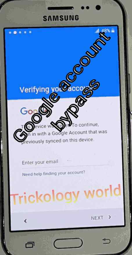 Samsung android device ko factory reset ke bad google account