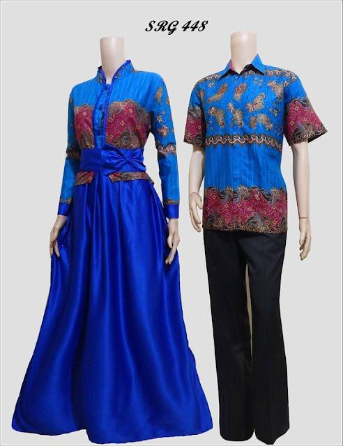 baju batik pasangan model sekarang