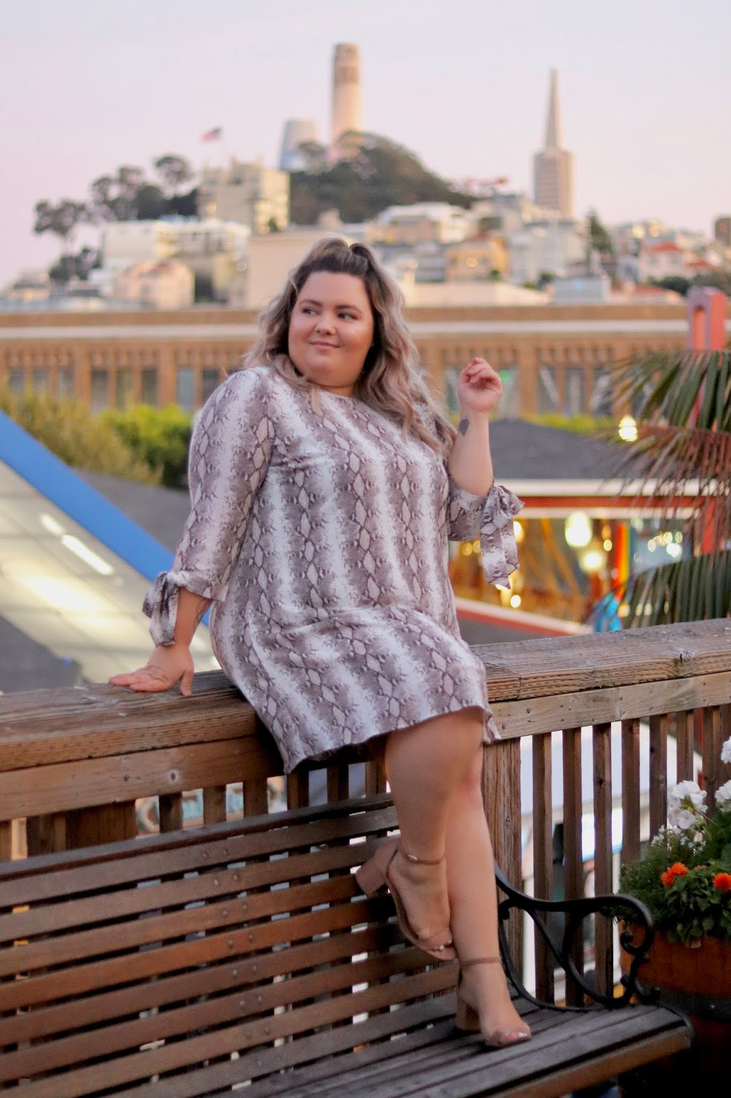 Chicago Plus Size Petite Fashion Blogger, influencer, YouTuber, and model Natalie Craig, of Natalie in the City, travels to Napa and San Francisco with Chic Soul to preview their fall / Napa Valley collection.