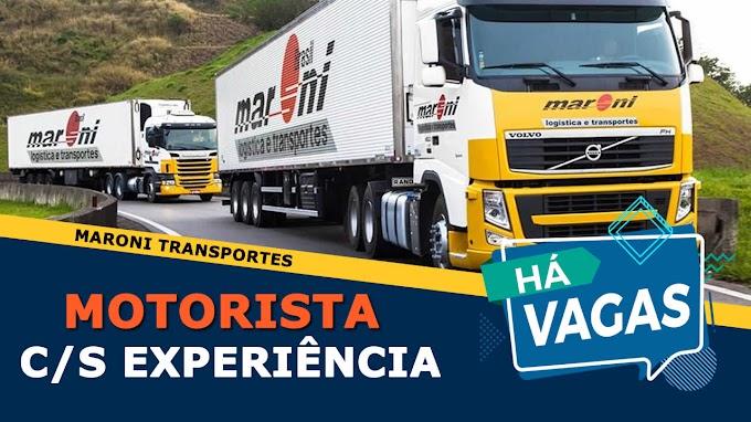 Maroni Transportes abre vagas para Motorista com ou sem Experiência