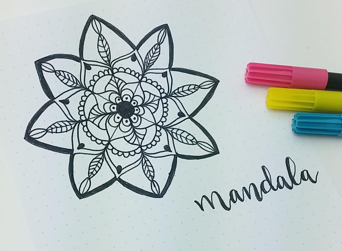con P de Papel Cmo hacer un Mandala