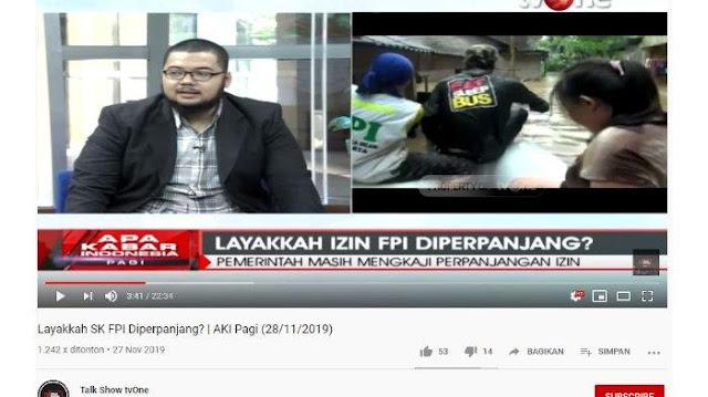 Ditanya Konsep Pancasila Menurut FPI, Kuasa Hukum Habib Ali Alatas Suruh Baca Tesis S2 Habib Rizieq