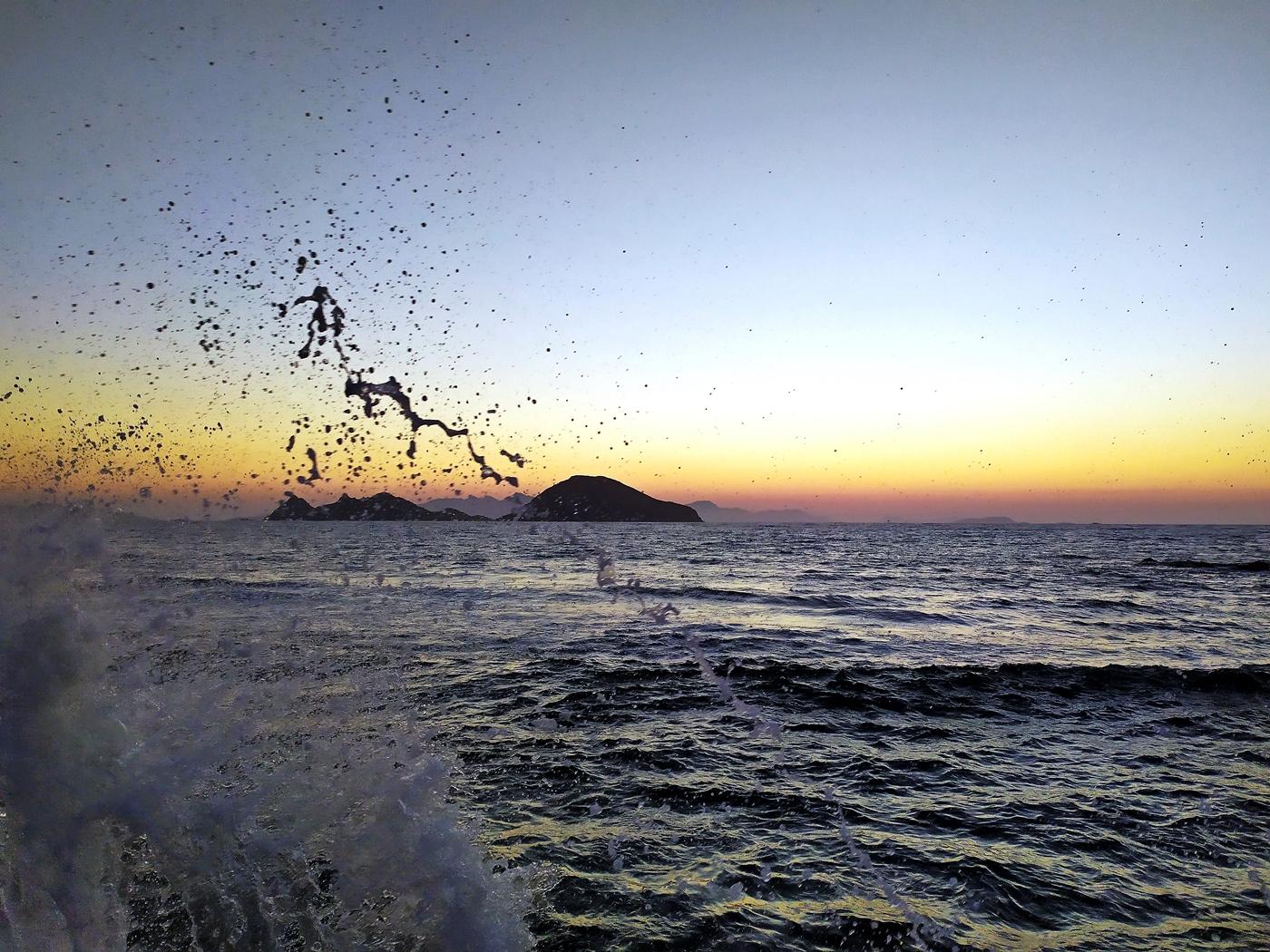 Landscape, Sunset, Aegean Sea, Waves, Waves Crashing