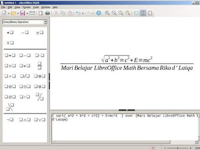 tampilan LibreOffice Math