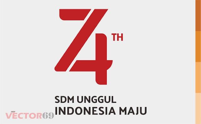 Logo HUT RI ke 74 Tahun 2019 SDM Unggul, Indonesia Maju - Download Vector File AI (Adobe Illustrator)