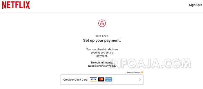 atur pembayaran di Netflix