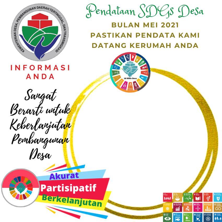 Download Twibbon Pendataan SDGs Desa Bulan Mei 2021