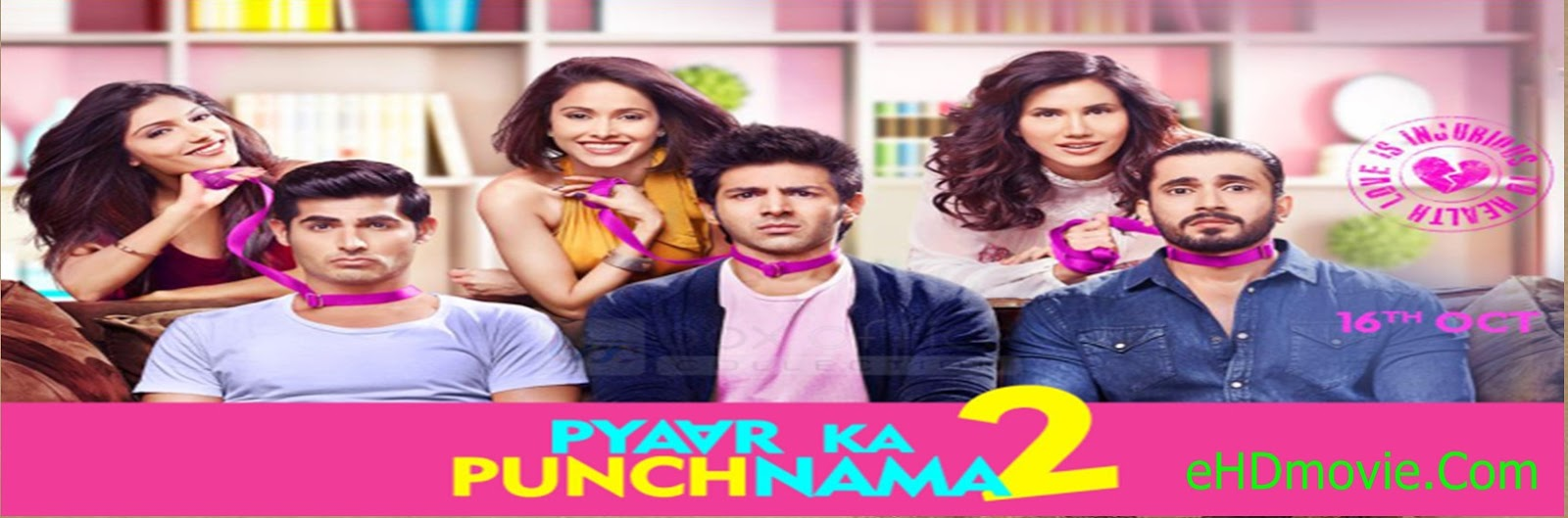 Pyaar Ka Punchnama 2 2015 Full Movie Hindi 720p - HEVC - 480p ORG BRRip 400MB - 600MB - 1GB ESubs Free Download