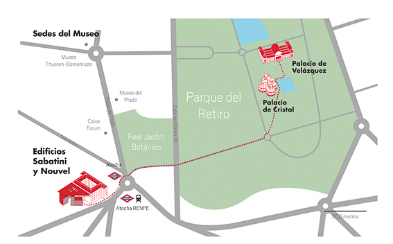 Sedes del museo Reina Sofia. Madrid