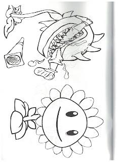 раскраска зомби Plants vs Zombies