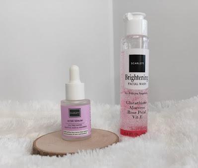 Acne Serum dan Brightening Facial Wash Scarlett