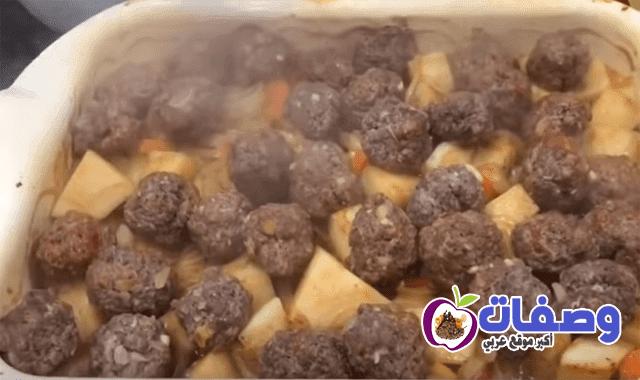 صنية البطاطس بالكفتة فاطمه ابو حاتي