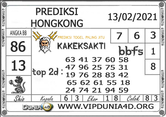 Prediksi Togel HONGKONG DUNIA4D 14 FEBRUARI 2021