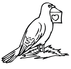 Printable Homer Pigeon Coloring Sheet For Kids