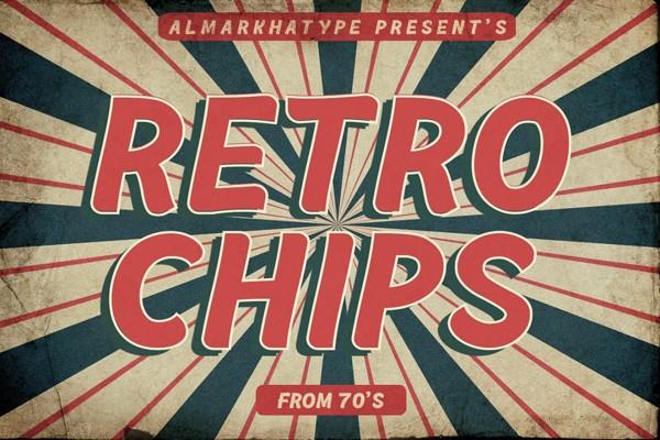 Retrochips Display Vintage Font
