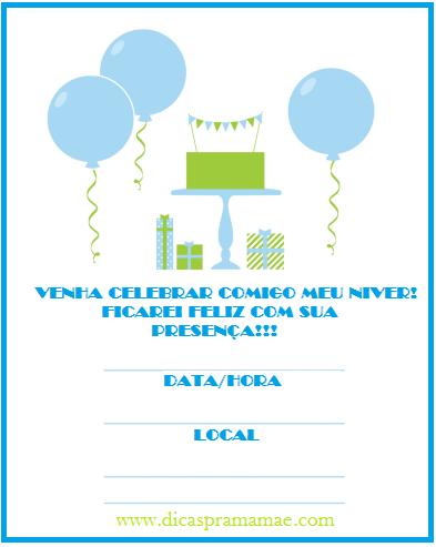 Convite Gratuito Para Imprimir Menino E Menina Dicas Pra Mamae